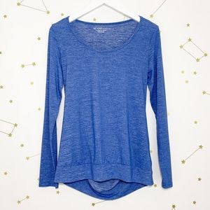 Beyond Yoga • Open Back Cut Out Pullover Top Blue